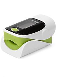 "1.1 ""freqüência cardíaca SpO2 tela OLED monitorar dedo oxímetro de pulso - verde + preto + branco (2 x AAA)"