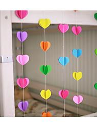5 Width 3 M Length Paper 3D Heart Shape Banner Confetti