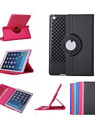 360 rotation des cas étui en cuir tpu smart protection ipad mini3 flip avec fonction de support pour Apple iPad air 2