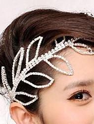 Rich Long Diamond Leaf Hair Clip