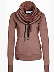 Informell Rund - Langarm - FRAUEN - Pullover mit / ohne Mützen ( Baumwolle )