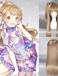 a melhor venda bonito cor marrom perucas sintéticas cosplay reta