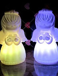 6.5*6.5*4.5CM Christmas Colorful Angel Energy Saving Battery A Night Light LED Lamp 1PC
