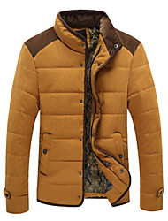 Men's Stand Coats & Jackets Plus Size, Cotton Long Sleeve Casual / Work Fashion Winter / Fall Wshgyy