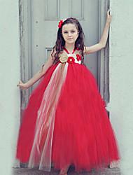 Ball Gown Ankle-length Flower Girl Dress - Tulle / Polyester Sleeveless