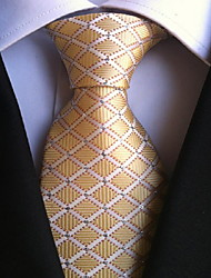 Men Wedding Cocktail Necktie At Work Beige White Cross Tie