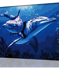 DIY Digital Oil Painting  Frame Family Fun Painting All By Myself  Dolphins Love  X5091