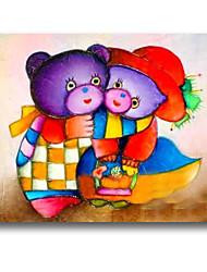 iarts®two niedlichen Bären handgemachtes Ölgemälde für Babyraum reizende Art