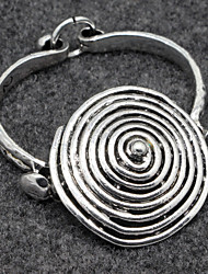 Alloy Spiral Bracelet Bangle