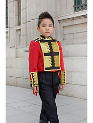 Gold / Red Polyester Ring Bearer Suit - 3 Pieces