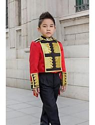 Oro / Rojo Poliéster Vestido de Padrino - 3 Piezas Incluye Chaqueta / Camisas / Pantalones / Faja