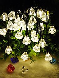 6,5 milhões de 30LED cristal de diamante solar, luzes da corda luzes decortation multa jardim natal