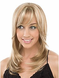 Mixture Color Wig Women Lady  Syntheic Wig Extensions New Stylish