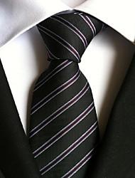 Men Wedding Cocktail Necktie At Work Black Purple