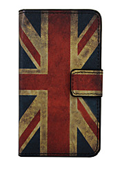 For Wiko Case Wallet / Card Holder / with Stand / Flip / Pattern Case Full Body Case Flag Hard PU Leather Wiko