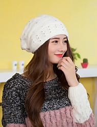 Women Cute Casual Rabbit&Acrylic Beanie Skullies Hats LD00056