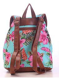Women Canvas Casual Backpack White / Blue / Green / Black