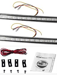 2 x 12 LED DRL Car Truck Day Daytime Running Turn Signal Light Lamp 12V
