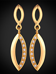 Vogue  Cute Luxury Cubic Zirconia Earrings 18K Real Gold Platinum Plated Jewelry for Women High Quality