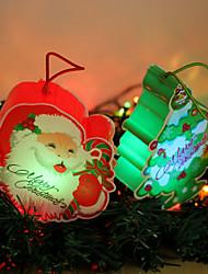 Christmas Gift Led Decorations Cartoon Santa Claus Decorated The Christmas Tree Lights Christmas Tree Lights