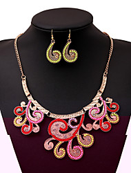 Women's Necklace Suit Hot Vintage Bohemia Style Party Necklace+Rings