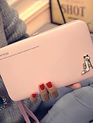 Women PU Bi-fold Clutch / Wallet - Pink / Purple / Blue / Black