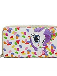 Women Cowhide Bi-fold Wallet - Multi-color