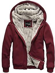Informell Kapuzenshirt - Langarm - MEN - Pullover mit / ohne Mützen ( Baumwolle )