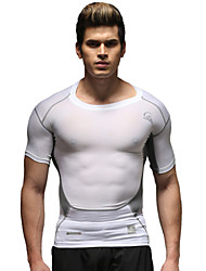 Running Tops Men's Short Sleeve Breathable Running Sports Sports Wear White S / M / L / XL