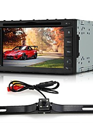 "6.2"" Car DVD Player In-Dash 2 DIN+Rear View Camera GPS Bluetooth for iPod iPhone"