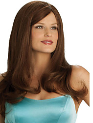 Fashion Lady Brown Color Natural Straight High Quality Synthetic Wig