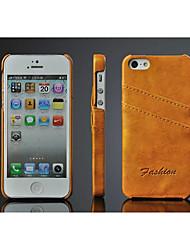 Для Кейс для iPhone 5 Бумажник для карт Кейс для Задняя крышка Кейс для Один цвет Твердый Искусственная кожа iPhone SE/5s/5