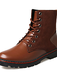 Men's Fashion Boots Casual/Outdoor/Work Microfiber Suede Leather Walking Hight Cut Boots
