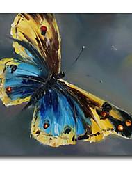 iarts®blue und gelb Schmetterling Tierölgemälde auf Segeltuch moderne Wandkunst