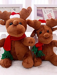 Santa Claus Milu Deer Plush Toys Christmas Deer Doll For Christmas