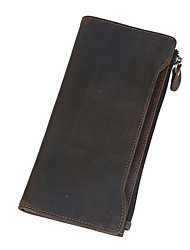 Men's Leather Wallet with Card Cash Holder Brown