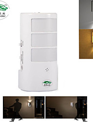Zweihnder @ 1PCS Sound and light control cabinet body sensors LED wall lamp night light plugged in infants
