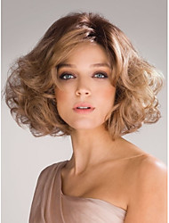Fashion Lady Short Blonde Curly Cosplay Side Wigs
