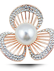 Korean Clover Flowers Natural Freshwater Pearl Brooch