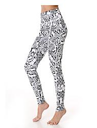 Yoga Pants Fundos Respirável / Secagem Rápida / wicking Alto Stretchy Wear Sports Mulheres Yokaland Ioga / Pilates / Fitness