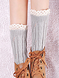 Women's Winter Gaiters Twist Hollow Lace Knitting Leg Warmers