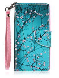 Full Body Wallet / Card Holder / with Stand Tree PU Leather Hard Case Cover For HuaweiHuawei P9 Lite / Huawei P8 Lite / Huawei Y560 /