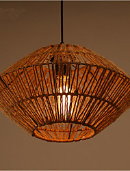 The American Village Hall Coffee Hand Woven Rope Chandelier