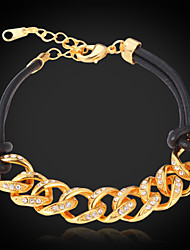 Vogue Vintage 18K Chunky Gold Plated Bacelet Bangle SWA Rhinestone Crystal Jewelry for Women  High Quality