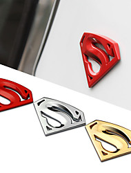 8x5.4cm grande de métal 3d superman 3m de chrome logo de Superman auto insigne métallique voiture sticker