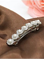 Rich Long Diamond Moon Hair Clip Pearl Single