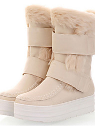 Women's Shoes Flat Heel Round Toe Boots Casual Black / White / Beige