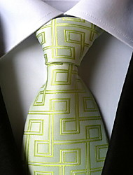 Men Wedding Cocktail Necktie At Work Light Green Tie
