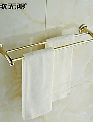weiyuwuxian® contemporânea bronze cristal dourado dupla toalha bar \ n