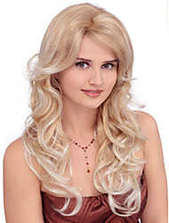 Capless Extra Long Synthetic Golden Blonde Curly Hair Wig